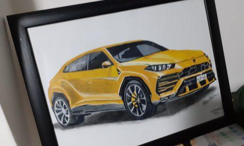 Disegno una Lamborghini Urus del 2018