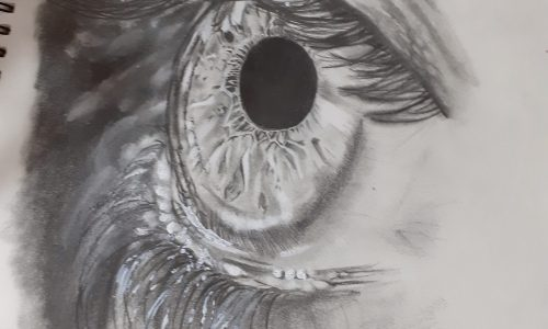 Disegno di un occhio dettagliato
